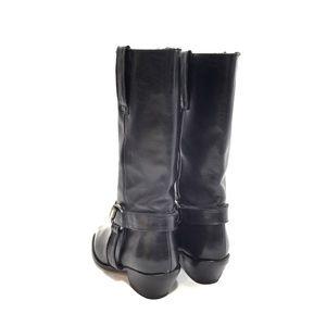 Joan & David Shoes - Joan & David Black Leather Cowboy Boots